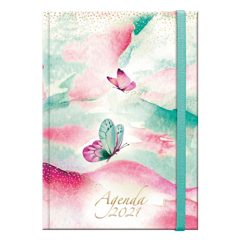 Agenda acuarela book 2021 12 x 17 cms.