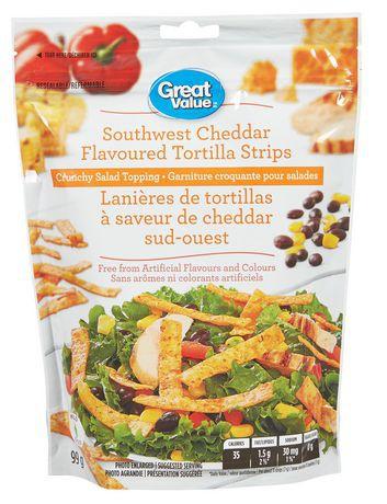 Southwest cheddar flavoured tortilla strips