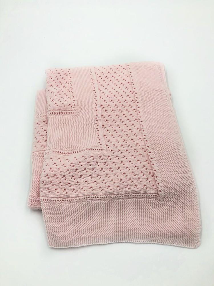 Chal / manta tejido español rosado 1.30 m x 1 m