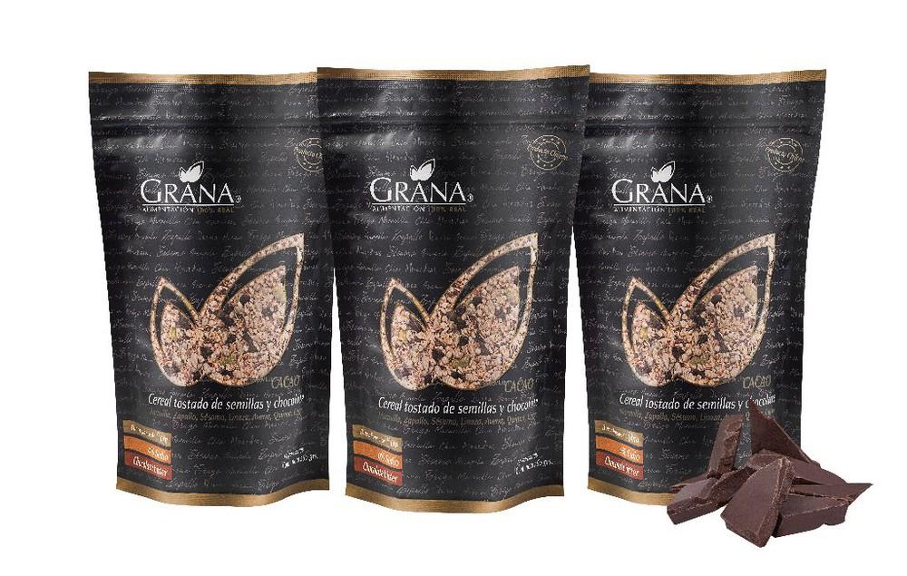 Cereal tostado de semillas y chocolate 3 x 260 g