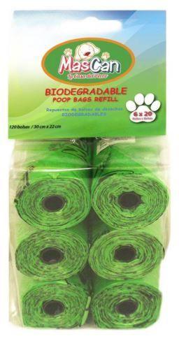 Bolsas sanitarias biodegradables 120 und 6 rollos 120 bolsas
