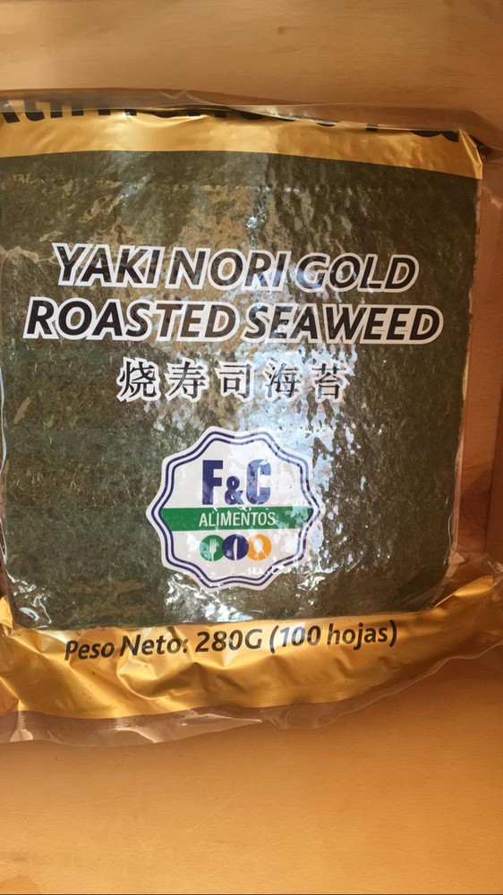 Nori gold 150 gr, 100 hojas
