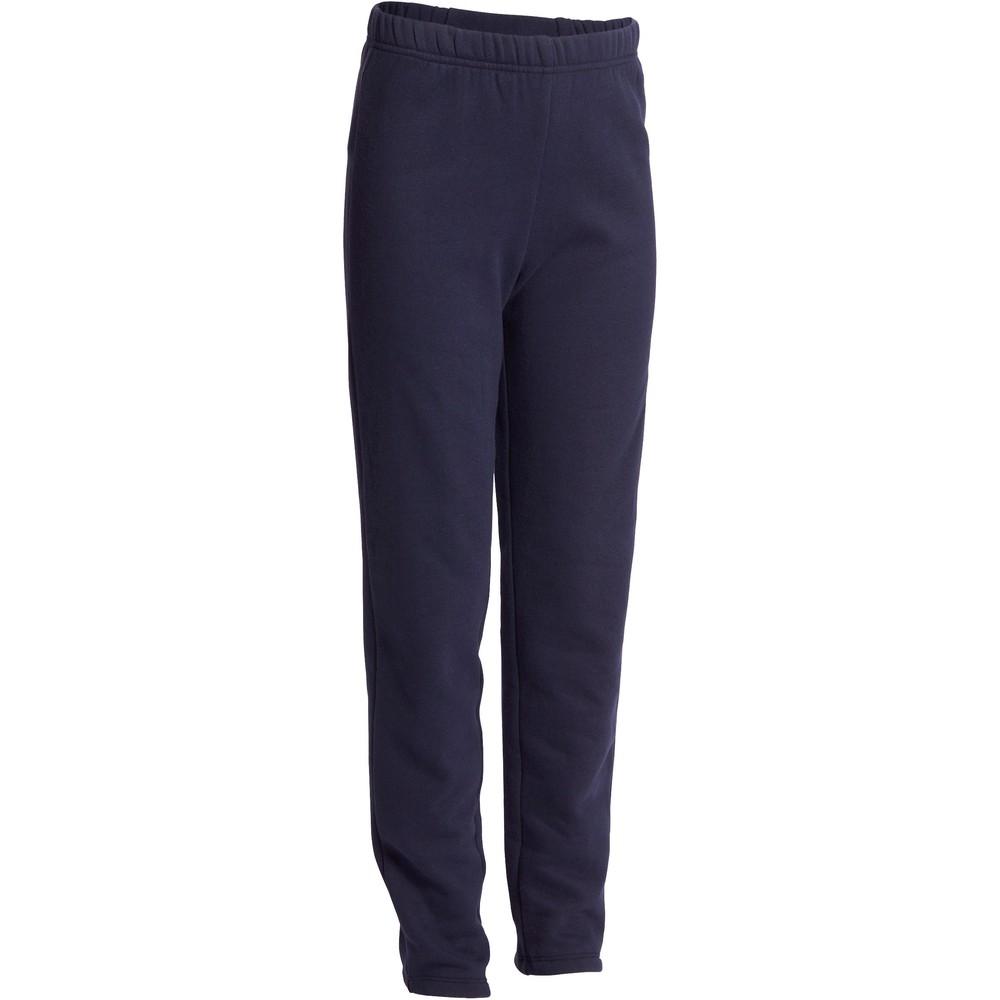 100 Warm Fleecy Slim-Fit Gym Bottoms Navy Blue - Boys - 8 - 9 Years