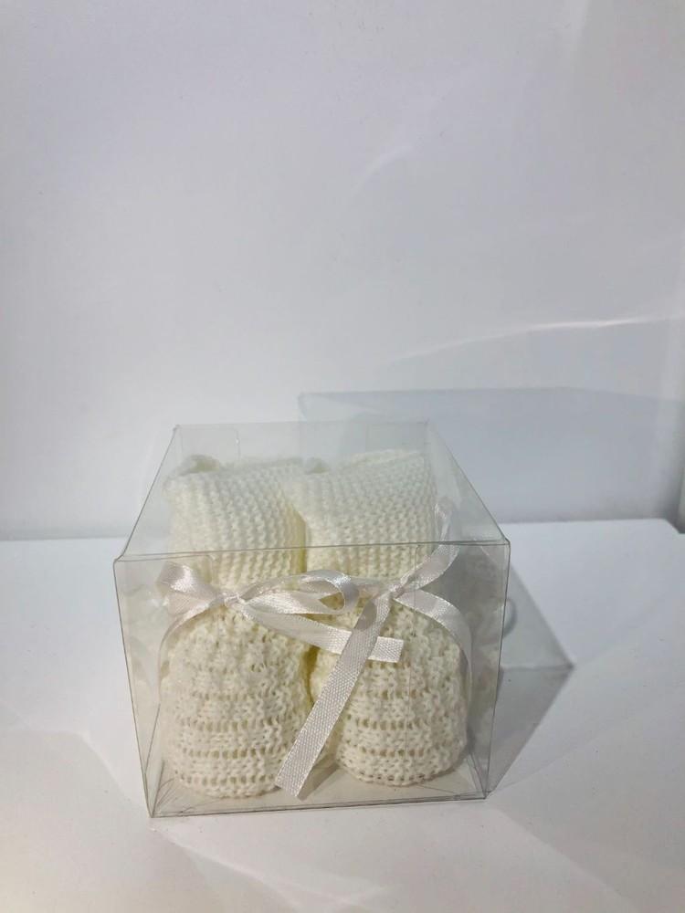 Escarpines para recien nacido 8 cm de largo x 6 cm de alto