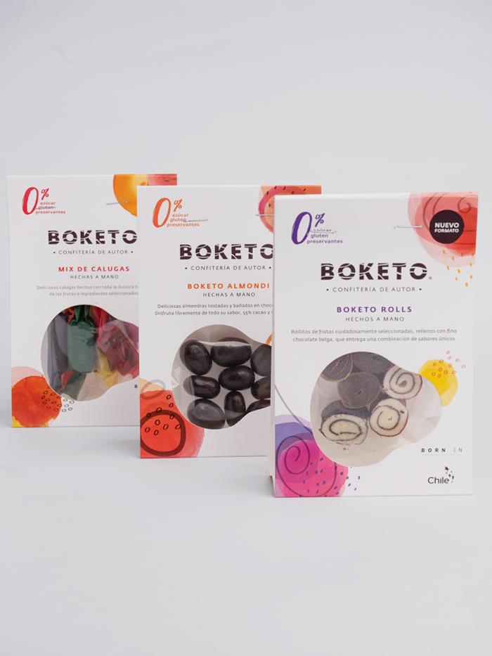 Pack boketo roll - mini calugas - boketo almondi