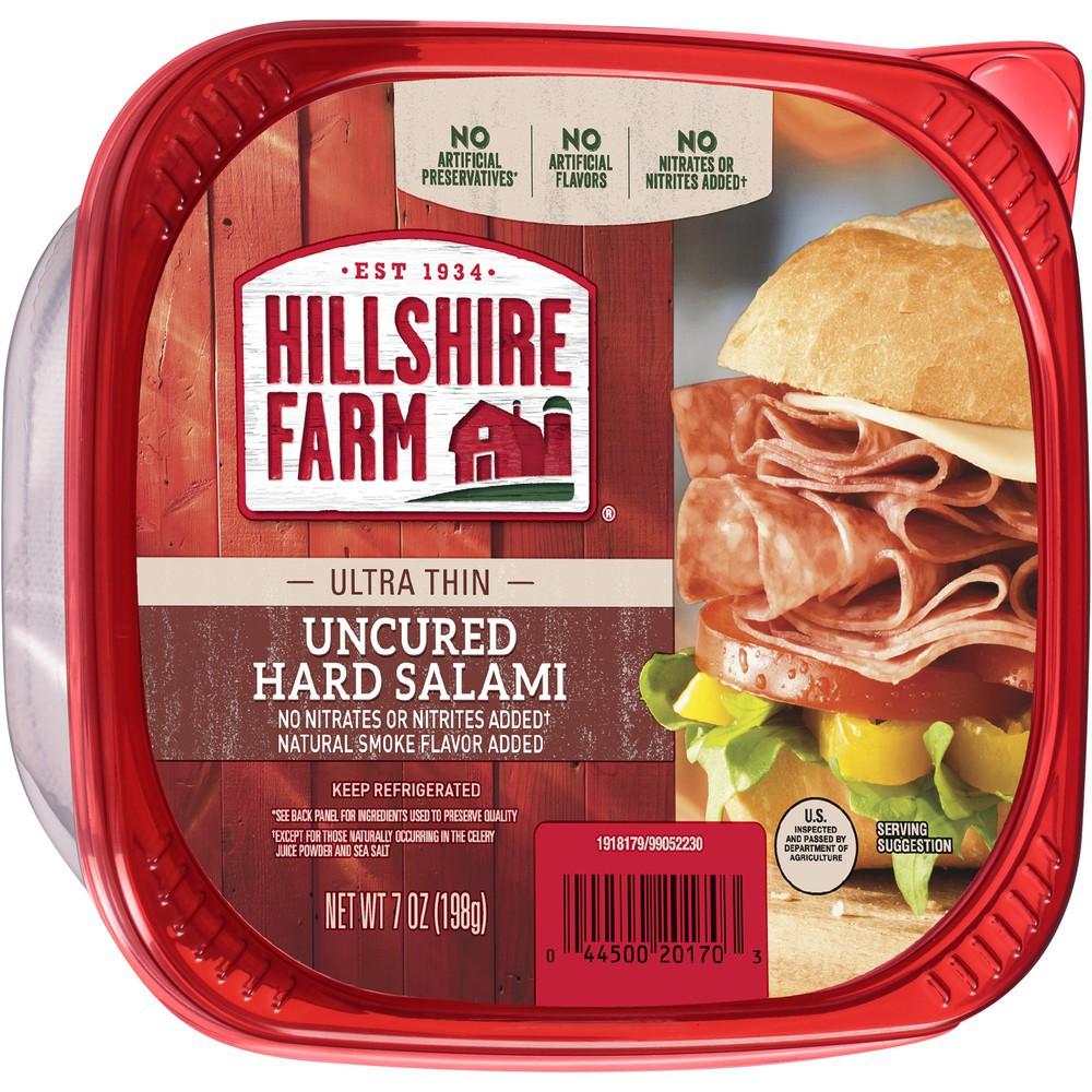 Ultra Thin Sliced Uncured Hard Salami Hillshire Farm 7 Oz Delivery Cornershop