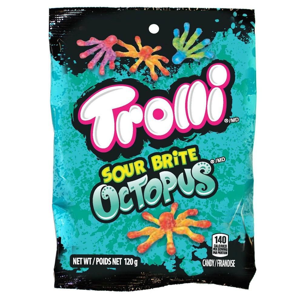 Sour brite octopus gummy