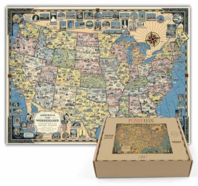 Puzzle mapa de estados unidos- 1.000 piezas