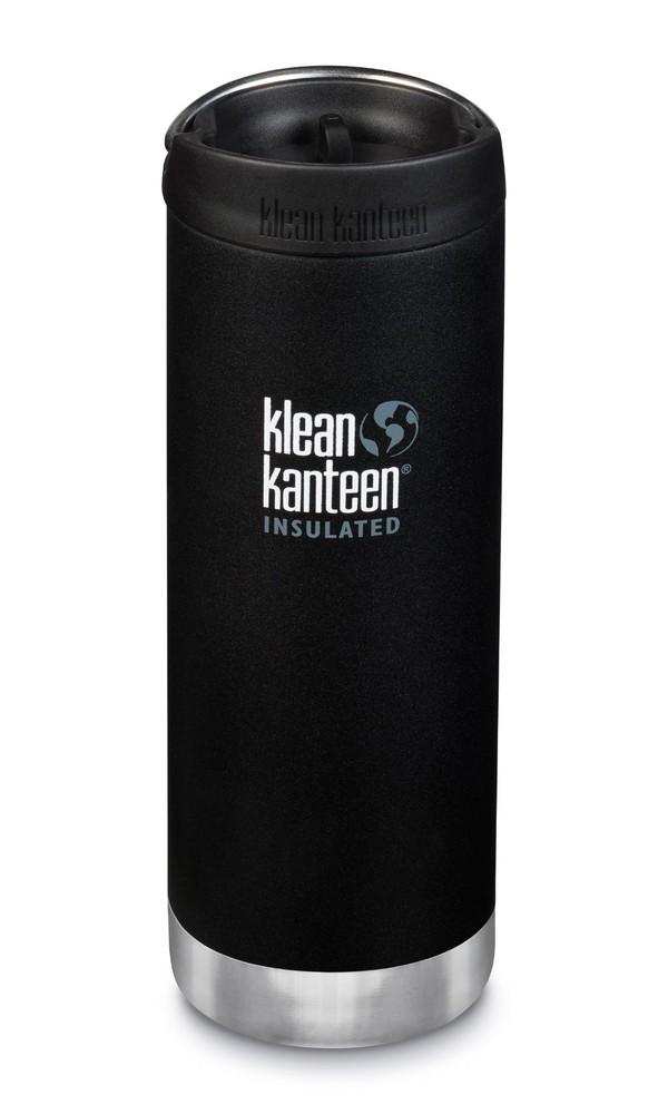 Botella térmica tk wide con tapa para café shale black 473 ml