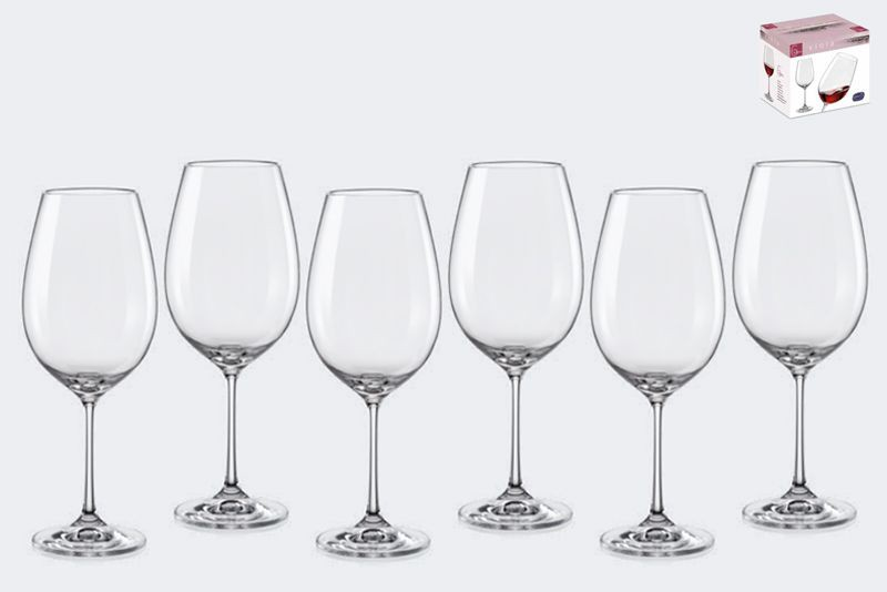 Copas de vino viola x6 24x7 cm c/u