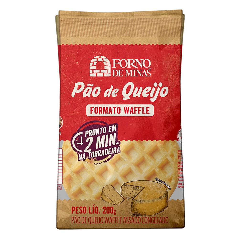 Pão de queijo formato waffle