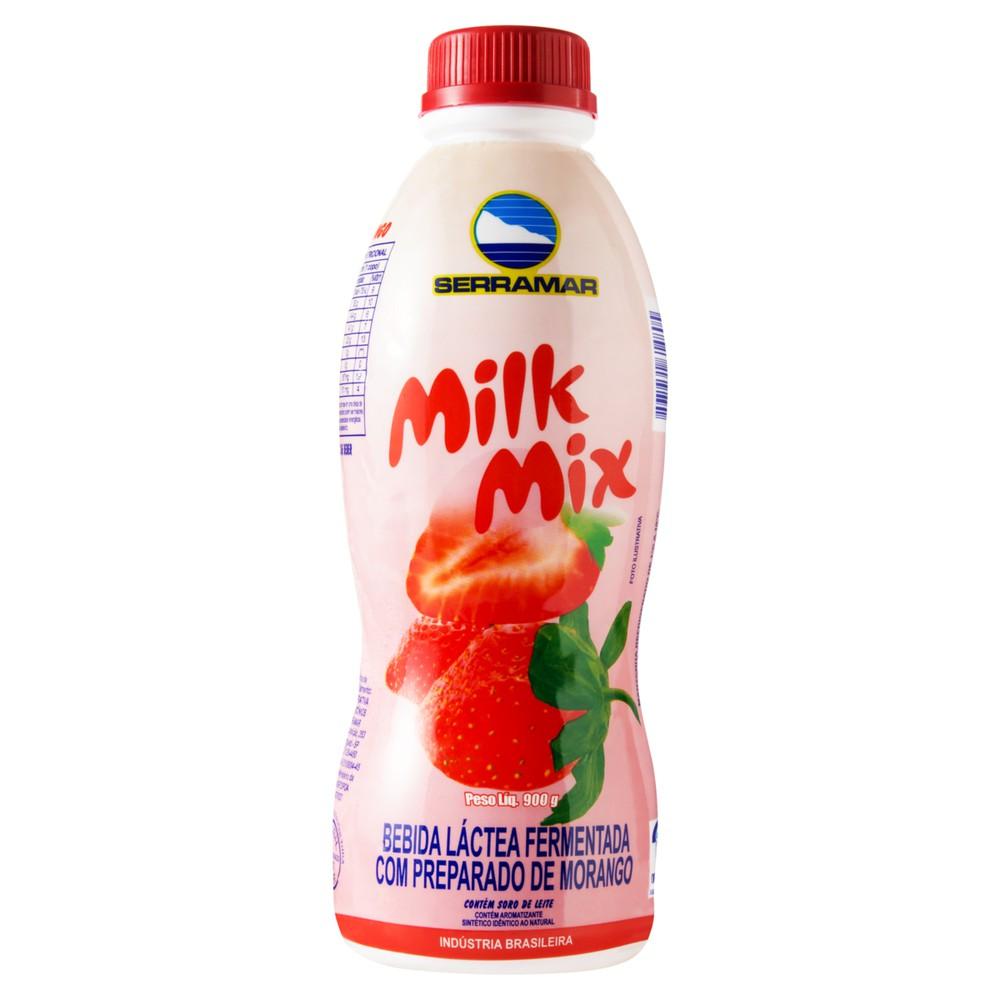 Bebida láctea fermentada Milk Mix sabor morango