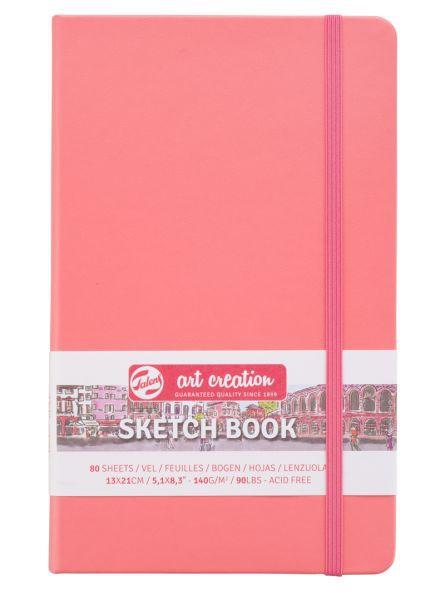 Libreta Sketchbook Coral Red 13 x 21 cm 140gr 80hjs