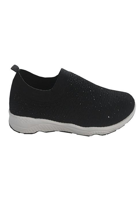 Zapatillas tela negro