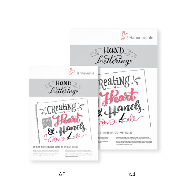 Block hand lettering hahnemuhle 170gr 25hjs a4 (21 x 29,7 cm)