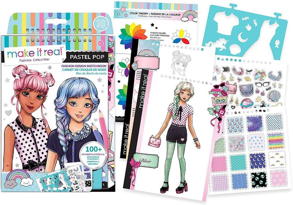 Block diseño de modas pastel pop Caja