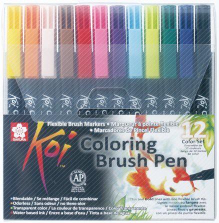 Brush pen 12 colores 12 u