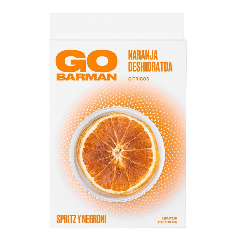 Botánicos para gin, naranja deshidratada 10 rodajas