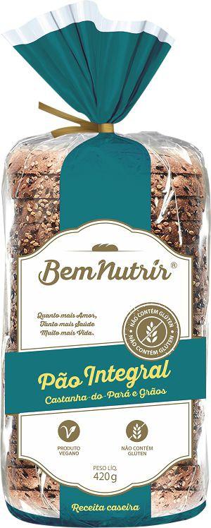 Pão integral com castanha do Pará e grãos