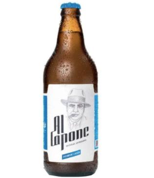 Cerveja al capone premium lager Garrafa com 500 ML