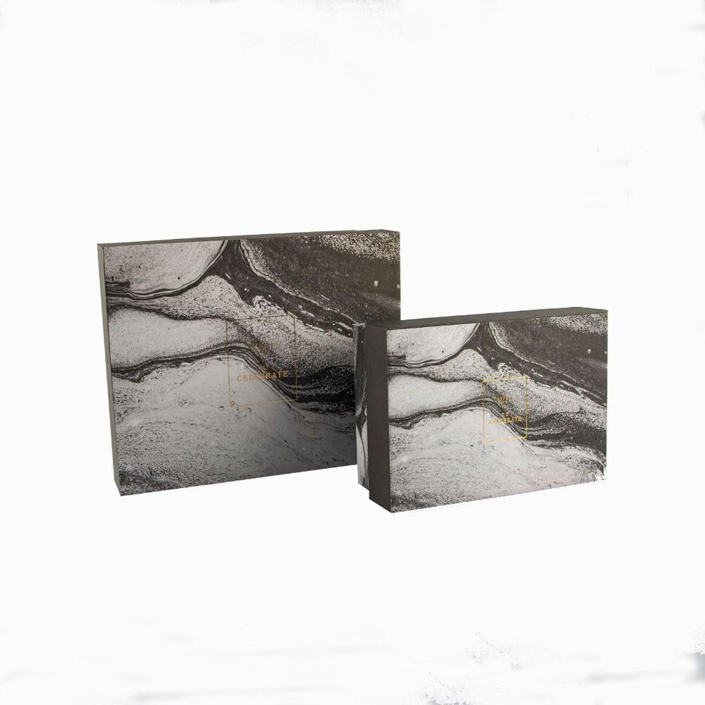 Set caja de regalo marmoleado negro