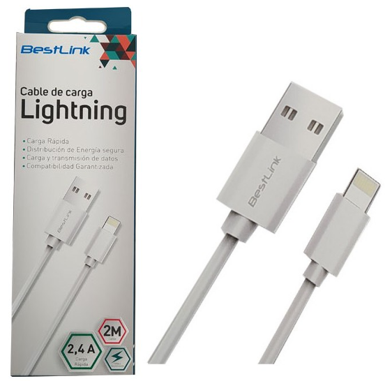 Cable USB 8 Pin BL-CH200CE Blanco Largo 1.5mt