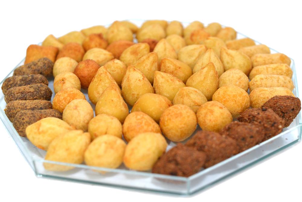 Kit salgadinhos fritos 50 unidades