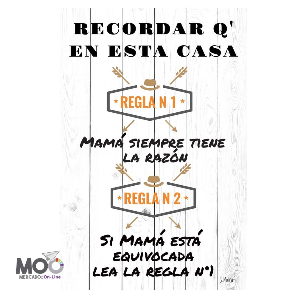 """Cuadro de madera """"Mamá Tiene la Razón"""" 40X60 CM"""
