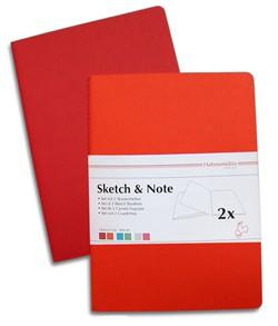 Libretas  Sketch & Note  Rojo- Naranjo