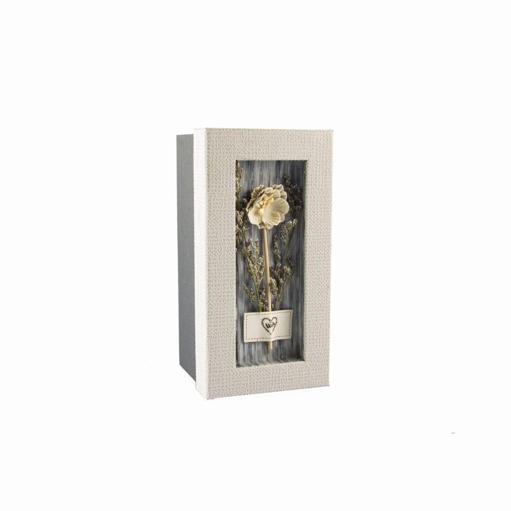 Caja de regalo gris flor