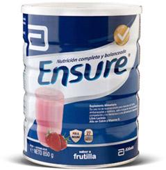 Suplemento nutricional en polvo sabor frutilla