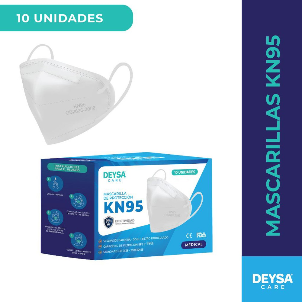 Mascarillas KN95 Caja 10 u