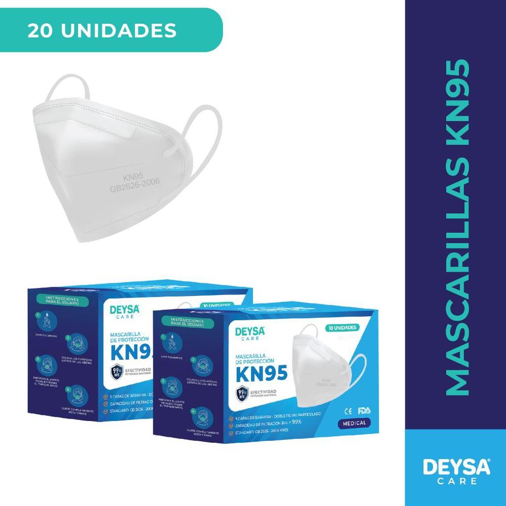 Dos pack de mascarillas kn95 de 5 capas, 10 unidades 10 unidades c/u