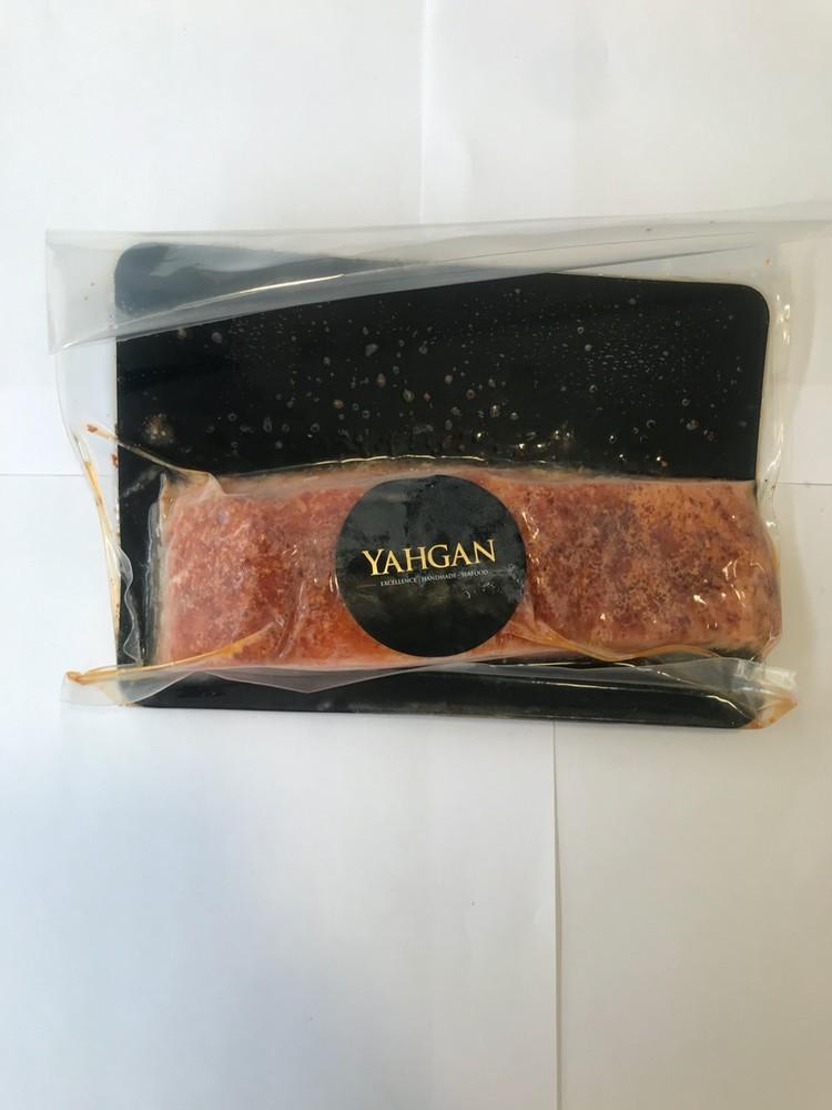 Salmón ahumado en caliente merkén sachet 150 g