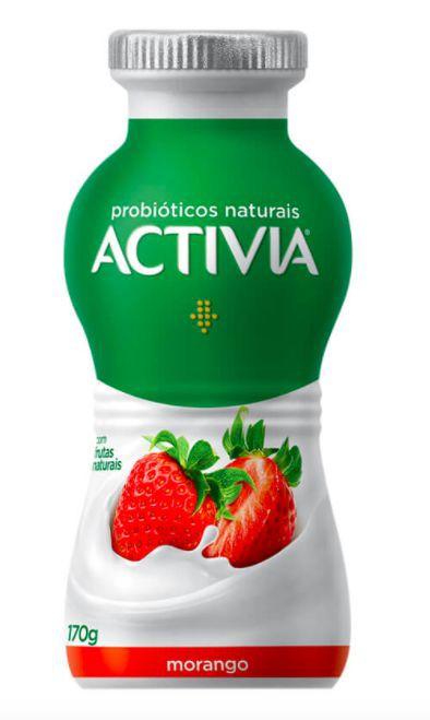 Leite fermentado sabor morango Activia