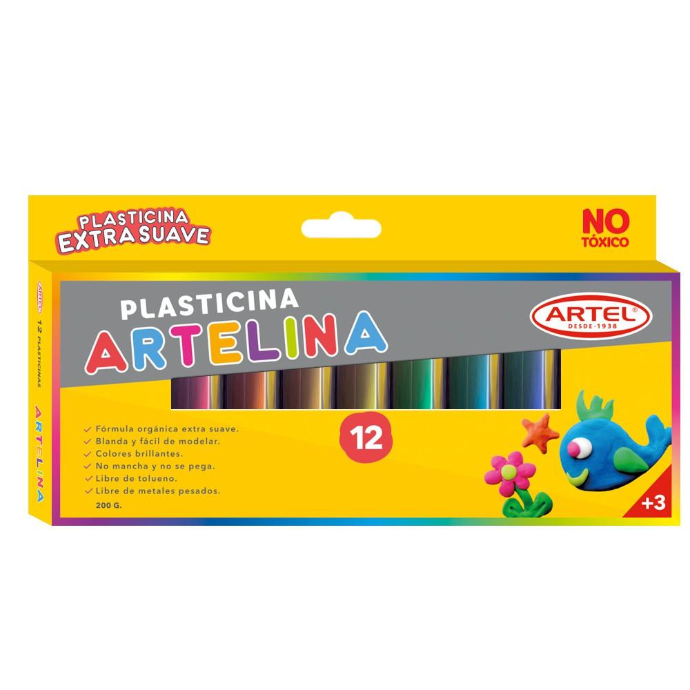 Plasticina de colores 12 Un