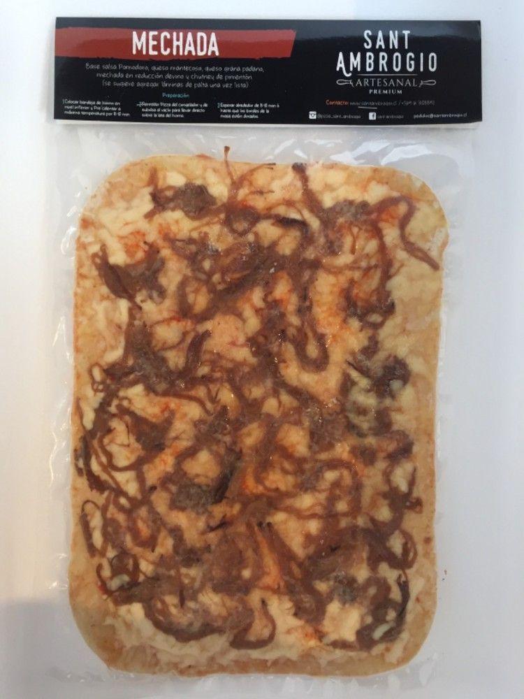 Pizza Mechada 23 x 33 cm/ 4 porciones