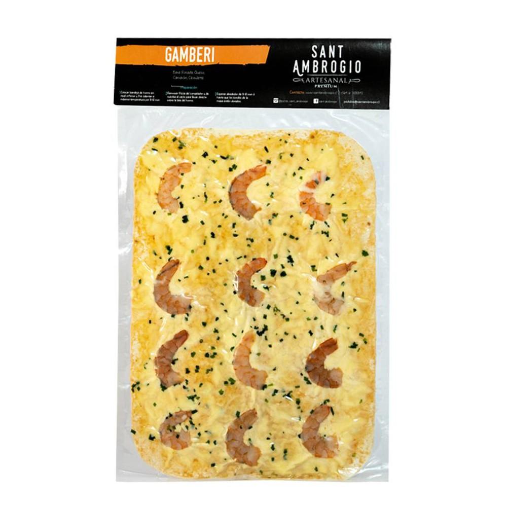 Pizza Gamberi 23 x 33 cm/ 4 porciones