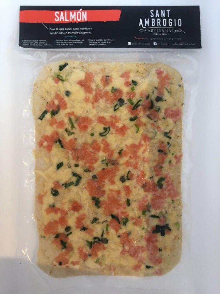 Pizza Salmón 23 x 33 cm/ 4 porciones