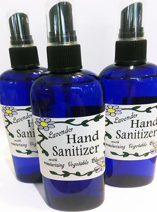 Lavender moisturizing hand sanitizer spray