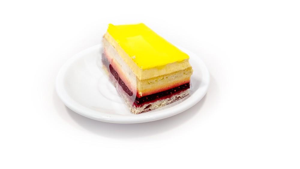 Raspberry passion cake 1 pc