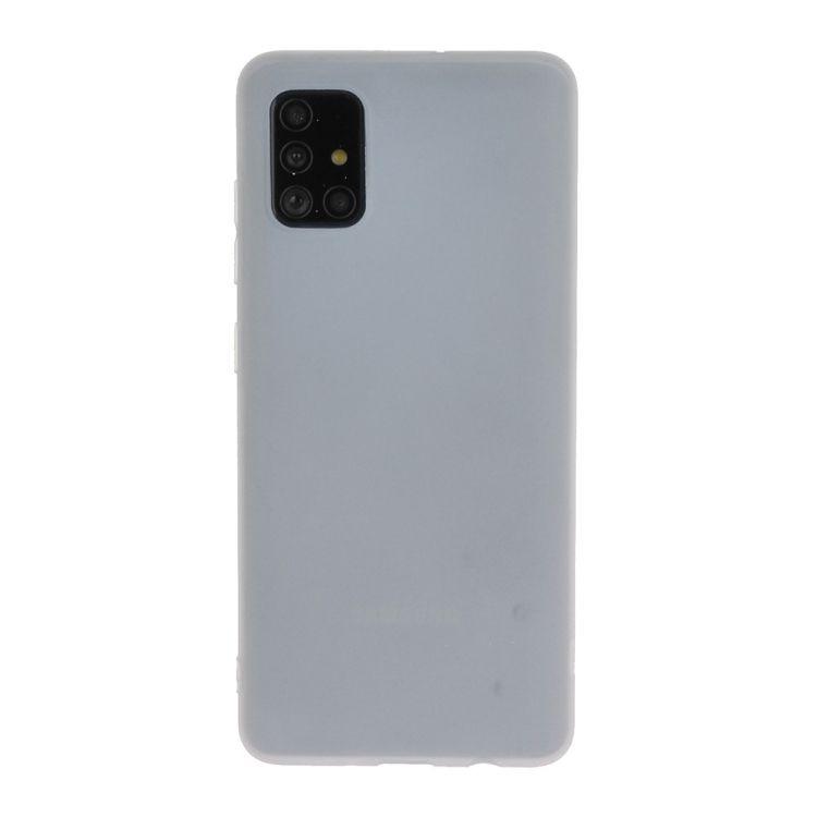 Funda TPU Modelo ZE1401 Blanco Liso Para Samsung Galaxy A71