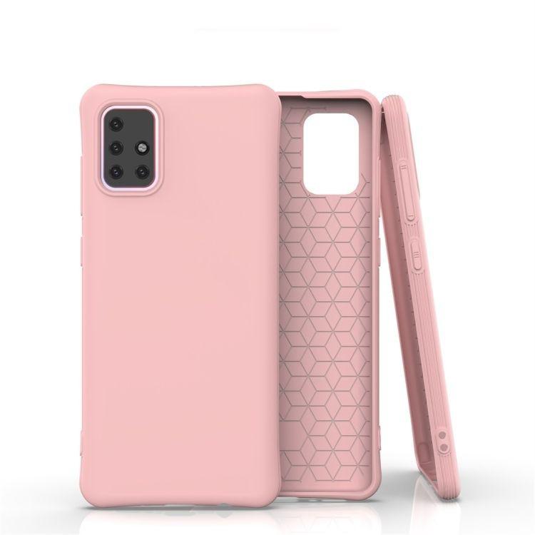 Funda TPU Modelo Reforzado Rosado Liso Para Samsung Galaxy A71