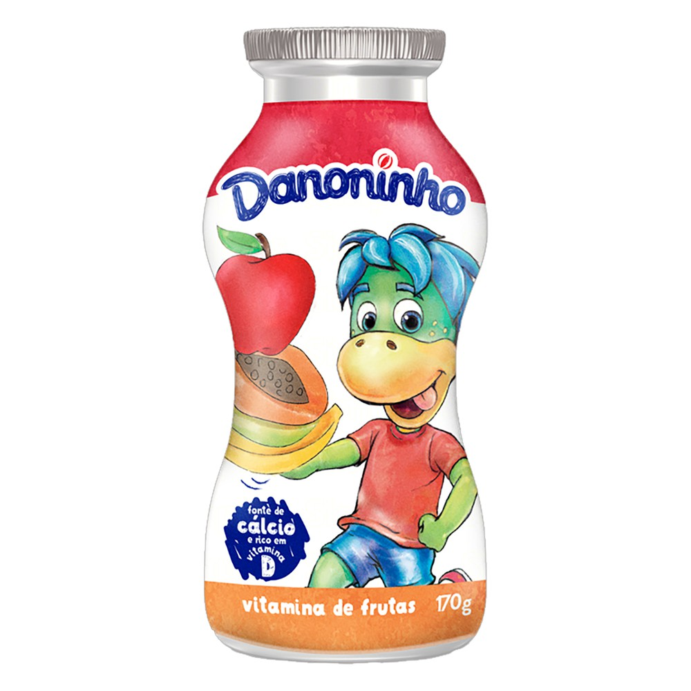 Iogurte líquido vitamina frutas Danoninho
