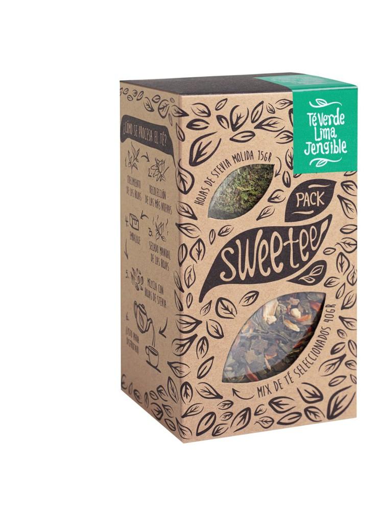 Té verde lima jengibre (hojas de stevia aparte)
