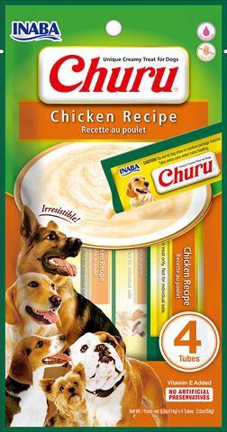 Dog churu pollo