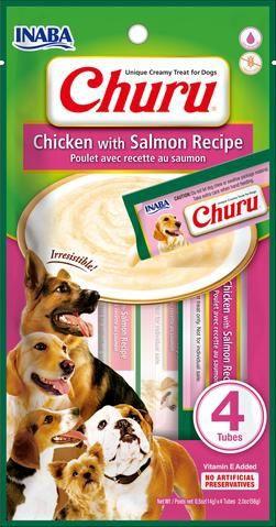 Dog churu pollo con salmon 4 tubos