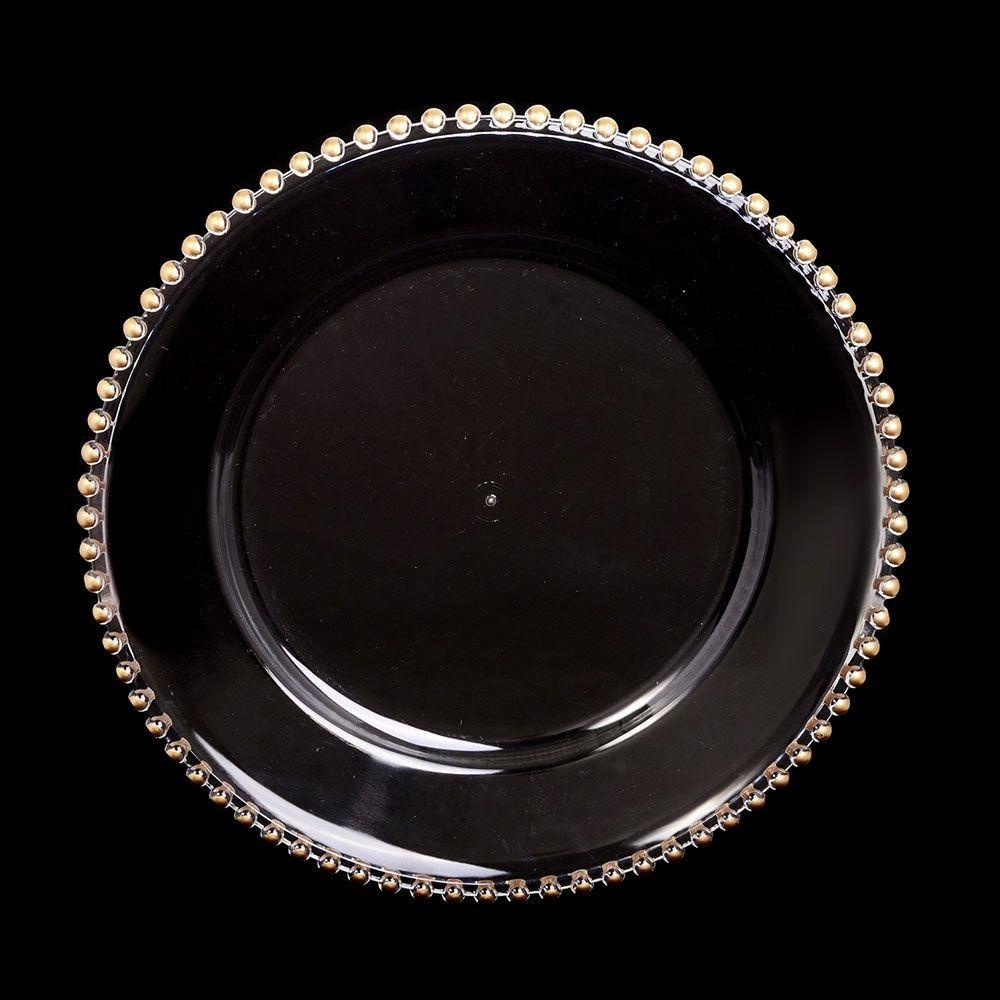Plato perlas doradas