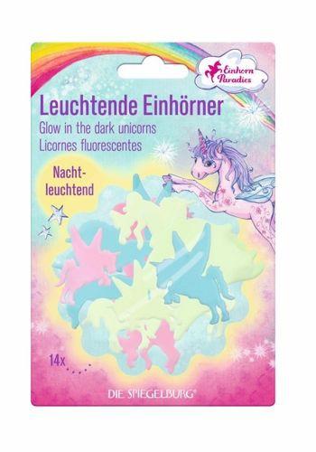 Unicornios que brillan en la oscuridad 17.5 x 12 x 1.5 cm