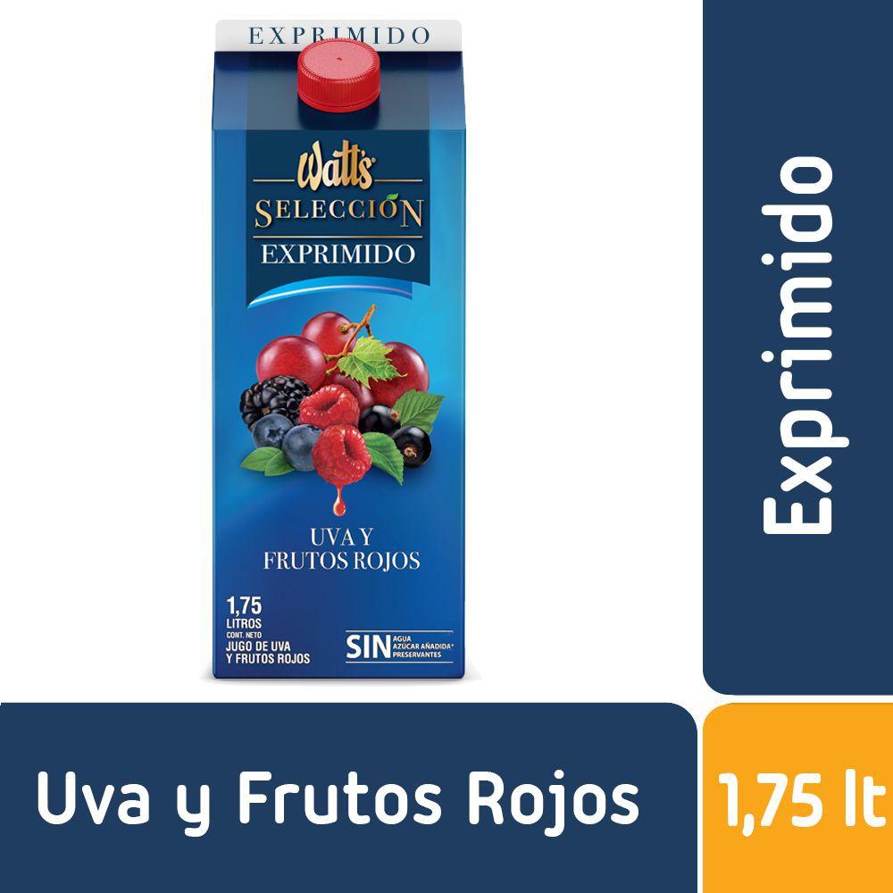 Jugo de uva y frutos rojos exprimido